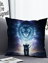 cheap -Cushion Cover with or without Pillow Insert Double Side Print 38x38cm / 45x45cm Polyester Lion