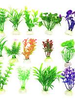 cheap -6pcs Artificial Aquarium Decor Plants Water Weeds Ornament Aquatic Plant Fish Tank Grass Decoration Accessories