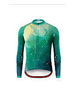 cheap -Men's Long Sleeve Downhill Jersey Violet Orange Green Bike Jersey Sports Clothing Apparel