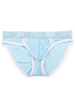 cheap -Men's 1 Piece Basic Briefs Underwear - Normal Low Waist Blue M L XL