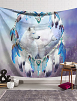 cheap -Wall Tapestry Art Decor Blanket Curtain Hanging Home Bedroom Living Room Decoration Polyester White Wolf