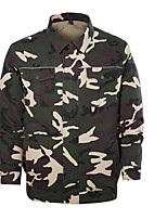cheap -Men's Hiking Windbreaker Military Tactical Jacket Outdoor Solid Color Waterproof Lightweight Breathable Quick Dry Top Cotton Fishing Climbing Running Camouflage Blue Grey