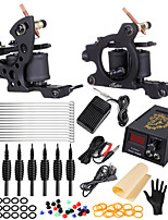 cheap -Coil Tattoo Machine Set Full Set Of Tattoo Tools Professional Fog Secant Dual Machine Tattoo Equipment