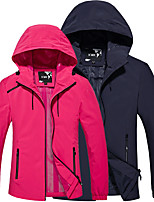 cheap -Women's Hiking Jacket Hiking Windbreaker Outdoor Solid Color Waterproof Lightweight Windproof Breathable Jacket Top Hunting Fishing Climbing Purple Rose Red / Quick Dry