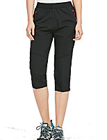 cheap -Women's Hiking Shorts Solid Color Summer Outdoor Lightweight Breathable Quick Dry Soft Capri Pants Black Rose Red Hunting Fishing Climbing L XL XXL XXXL 4XL / Wear Resistance
