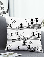 cheap -1 pcs Polyester Pillow Cover Pillow Cover & Insert, Floral&Plants Simple Classic Square Zipper Polyester Traditional Classic