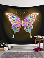cheap -Wall Tapestry Art Decor Blanket Curtain Hanging Home Bedroom Living Room Decoration Polyester Purple Gold Butterfly