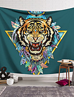 cheap -Wall Tapestry Art Decor Blanket Curtain Hanging Home Bedroom Living Room Decoration Polyester Tiger Head Fangs