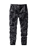 cheap -Men's Work Pants Hiking Cargo Pants Hiking Pants Trousers Camo Summer Outdoor Ripstop Multi Pockets Breathable Sweat wicking Cotton Bottoms Dark Grey Army Green Light Grey Work Hunting Fishing 28 29