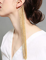 cheap -Women's Ear Cuff Tassel Fringe Vertical / Gold bar Vintage Classic Earrings Jewelry Gold For Wedding Party Stage 1pc