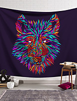 cheap -Wall Tapestry Art Decor Blanket Curtain Hanging Home Bedroom Living Room Decoration Polyester Color Line Wolf