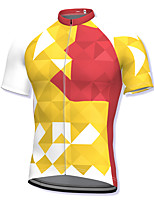 cheap -21Grams Men's Short Sleeve Cycling Jersey Yellow Bike Top Mountain Bike MTB Road Bike Cycling Breathable Quick Dry Sports Clothing Apparel / Athleisure