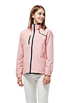 cheap -Women's Hiking Jacket Hiking Windbreaker Outdoor Solid Color Waterproof Lightweight Windproof Breathable Jacket Top Fishing Climbing Running White Black Fuchsia Pink / Quick Dry