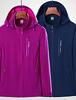 cheap -Women's Hiking Jacket Hiking Windbreaker Outdoor Solid Color Waterproof Lightweight Breathable Quick Dry Top Elastane Fishing Climbing Running Purple Fuchsia Blue