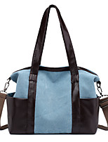 cheap -Women's Bags Canvas Tote Crossbody Bag Zipper Color Block Plain Daily Going out 2021 Handbags Light Gray Black Blue Red
