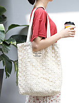 cheap -Women's Bags Canvas Tote Top Handle Bag Shopper Bag Lace Hollow Daily Going out 2021 Canvas Bag Handbags White Black