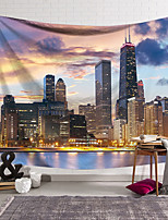 cheap -Wall Tapestry Art Decor Blanket Curtain Hanging Home Bedroom Living Room Decoration Polyester City Lights