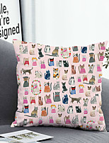 cheap -1 pcs Polyester Pillow Cover Pillow Cover & Insert, Animal Simple Classic Square Zipper Polyester Traditional Classic