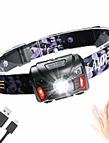 cheap -enjoydeal rechargeable led headlamp with pir motion sensor, waterproof, lightweight, super bright, 5 modes, for running, camping, hiking, fishing, children