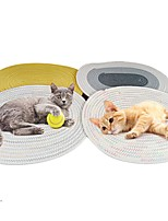 cheap -Dog Cat Cat Scratcher Mat Cat Scratching Carpet Pad Color Block Donuts Relieves Stress Washable Scratch Resistant For Indoor Use Cotton for Large Medium Small Dogs and Cats