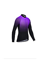 cheap -Men's Long Sleeve Downhill Jersey Violet Red Grey Bike Jersey Sports Clothing Apparel