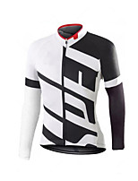 cheap -Men's Long Sleeve Downhill Jersey Red and White Red / White Black / Red Bike Jersey Sports Clothing Apparel