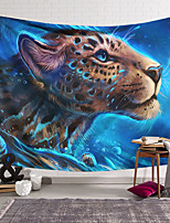 cheap -Wall Tapestry Art Decor Blanket Curtain Hanging Home Bedroom Living Room Decoration Polyester Blue Background Tiger