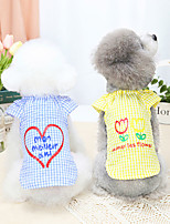 cheap -Dog Cat Shirt / T-Shirt Vest Heart Basic Adorable Cute Dailywear Casual / Daily Dog Clothes Puppy Clothes Dog Outfits Breathable Yellow Blue Costume for Girl and Boy Dog Polyster S M L XL XXL