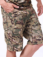 cheap -Men's Hiking Shorts Hiking Cargo Shorts Solid Color Summer Outdoor Lightweight Breathable Quick Dry Wear Resistance Shorts Jungle camouflage Black Camouflage Grey Khaki Hunting Fishing Climbing S M L