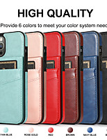 cheap -Multi-function Solid Colored Case For Apple iPhone 12 11 SE2020 Shockproof  Wallet with Stand  Protective Case PU Leather TPU Cover for iPhone 12 Pro Max XR XS Max iPhone 8 7