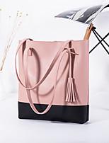 cheap -Women's Bags PU Leather Tote Tassel Classic Fashion 2021 Shopping Daily Black Grey Black Blushing Pink Brown