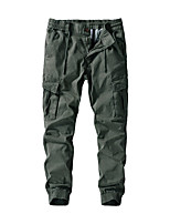 cheap -Men's Hiking Pants Trousers Hiking Cargo Pants Solid Color Outdoor Breathable Thick Anti-tear Multi-Pockets Cotton Bottoms Black Army Green Khaki Dark Blue Hunting Fishing Climbing 30 36 38 32 34