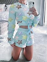 cheap -Women's Sweatsuit 2 Piece Set Tie Dye Crop Top Crew Neck Color Block Sport Athleisure Clothing Suit Long Sleeve Breathable Warm Soft Comfortable Everyday Use Casual Daily Outdoor / Winter