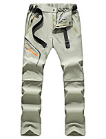 cheap -Women's Hiking Pants Trousers Convertible Pants / Zip Off Pants Solid Color Outdoor Lightweight Windproof Breathable Quick Dry Bottoms Black Green Hunting Fishing Climbing M L XL XXL XXXL