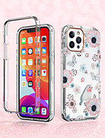 cheap -Birds twitter and fragrance Case For Apple iPhone 12 12mini 12Pro max  iPhone 11 11Pro  11Pro max  iPhone SE X XS XR XSMAX Shockproof / Pattern Back Cover Flower TPU  Case for iPhone 8plus 7plus