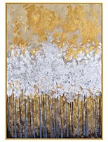 cheap -Hand painted Oil Painting Abstract Gold Thick Art Canvas Gold Painting Wall Picture Wall Artwork For Dining Room Decoration