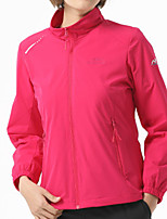 cheap -Women's Hiking Jacket Hiking Windbreaker Outdoor Solid Color Waterproof Lightweight Windproof Breathable Jacket Top Elastane Fishing Climbing Running Red Pink Sky Blue Rose Red / Quick Dry