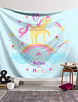 cheap -Wall Tapestry Art Decor Blanket Curtain Hanging Home Bedroom Living Room Decoration Polyester Cute Unicorn