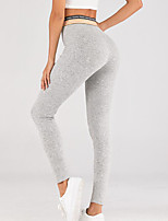 cheap -Women's Sports Leggings Sweatpants Pants Plain Full Length Gray