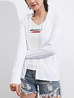 cheap -Women's Hiking Skin Jacket Hiking Windbreaker Outdoor Solid Color Packable Waterproof Lightweight UV Sun Protection Outerwear Jacket Top Full Length Visible Zipper Fishing Climbing Running White