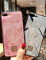 cheap -Gold Sprinkle Phone Case For iPhone 12 Pro Max iPhone 11 SE 2020 Shockproof Single Sided Pink and White Tile Geometric Pattern Glitter Shine TPU Case for iPhone 8 Plus