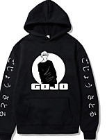 cheap -Inspired by Jujutsu Kaisen Gojo Satoru Cosplay Costume Hoodie Poly / Cotton Graphic Prints Printing Hoodie For Men's / Women's