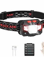 cheap -USB Wiederaufladbare LED Stirnlampe Kopflampe mit Energieanzeige Wasserdicht Mini Stirnlampe Kinder Perfekt für Joggen, Laufen, Gehen, Campen, Lesen, Angeln und andere Outdoor-Sportarten
