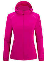 cheap -Women's Hiking Jacket Hiking Windbreaker Outdoor Solid Color Waterproof Lightweight Windproof Breathable Jacket Top Elastane Full Length Visible Zipper Fishing Climbing Running Red Fuchsia Sky Blue