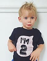 cheap -Kids Boys' Tee Half Sleeve Graphic Letter Print Children Tops Active White Black