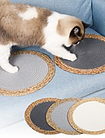 cheap -Cat Scratcher Mat Cat Scratching Carpet Pad Color Block Donuts Relieves Stress Washable For Indoor Use Cotton for Large Medium Small Dogs and Cats