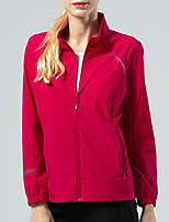 cheap -Women's Hiking Jacket Hiking Windbreaker Outdoor Solid Color Waterproof Lightweight Windproof Breathable Jacket Top Elastane Full Length Visible Zipper Fishing Climbing Running Purple Red Light
