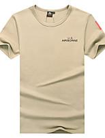 cheap -Men's T shirt Hiking Tee shirt Short Sleeve Tee Tshirt Top Outdoor Lightweight Breathable Quick Dry Sweat wicking Summer ArmyGreen Black khaki Running