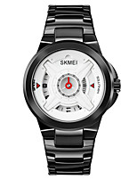 cheap -SKMEI Men's Steel Band Watches Quartz Stylish Shock Resistant Large Dial Digital White Black / One Year / Stainless Steel / Stainless Steel