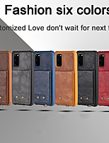 cheap -Phone Case For Samsung Back Cover Leather S20 S20 Plus S20 ultra S9 S9 Plus S10 S10 + Galaxy S10 E Galaxy S10 5G Note 10 Shockproof Leather Solid Colored PU Leather TPU